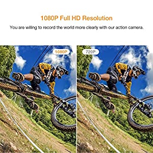 【Upgraded】APEMAN Action Camera 1080P Full HD Waterproof Sport Camera 30m Underwater Camcorder with 170° Wide Angle and Mounting Accessory Kits from APEMAN
