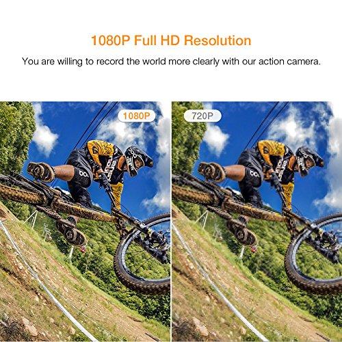 【업그레이드 된】 APEMAN 액션 카메라 1080P 풀 HD 방수 스포츠..