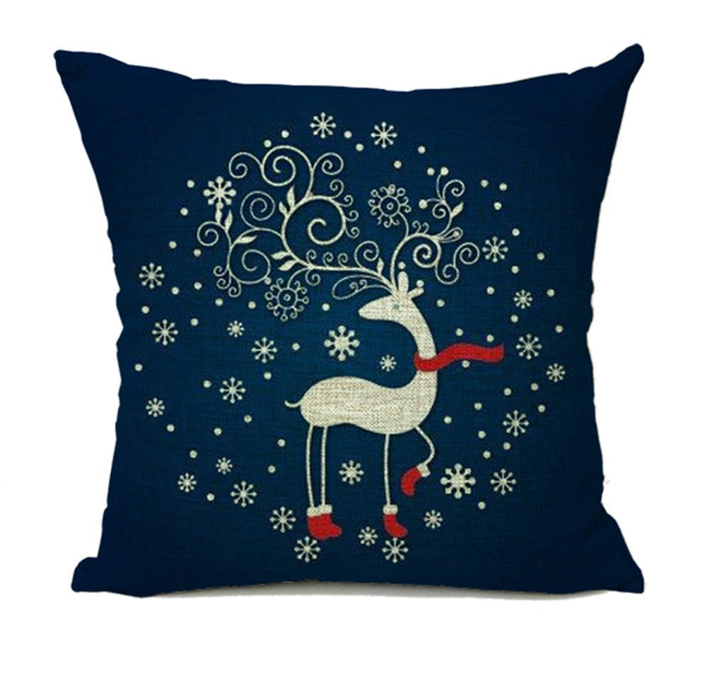 spxubzレッドサンタクロースクリスマス( Smile )枕カバー装飾ホーム装飾素敵なギフトスクエアインドア/アウトドア枕カバーサイズ: 18 x 18インチ(両面) 18x18 Inch B07CGLY1KQ