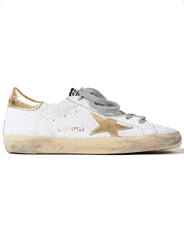 36f83bb22e619 Golden Goose Deluxe Brand Women s Sneakers Superstar Print Snake-Gold Star  G32WS590.
