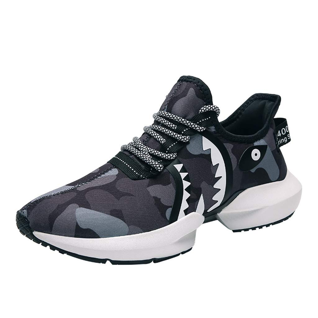 Sneakers for Men 2019, Caopixx Summer Men's Breathable Lightweight Sneakers Camouflage Lace-Up Running Shoes
