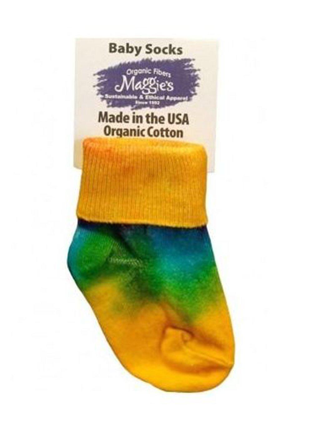 Maggie's Organics - Organic Cotton Tie Dye Baby Anklet Socks - Toddler - Tie Dye