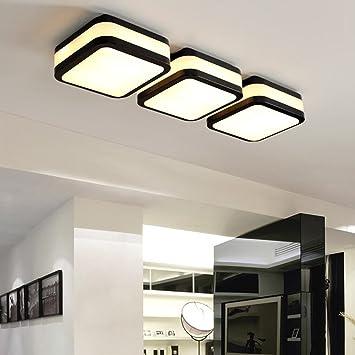 Deckenleuchte   Nordische LED Einfache Moderne Vierkanteisen Deckenleuchten  Eingangsbereich Eingangsbereich Gang Flur Deckenleuchten (Farbe,
