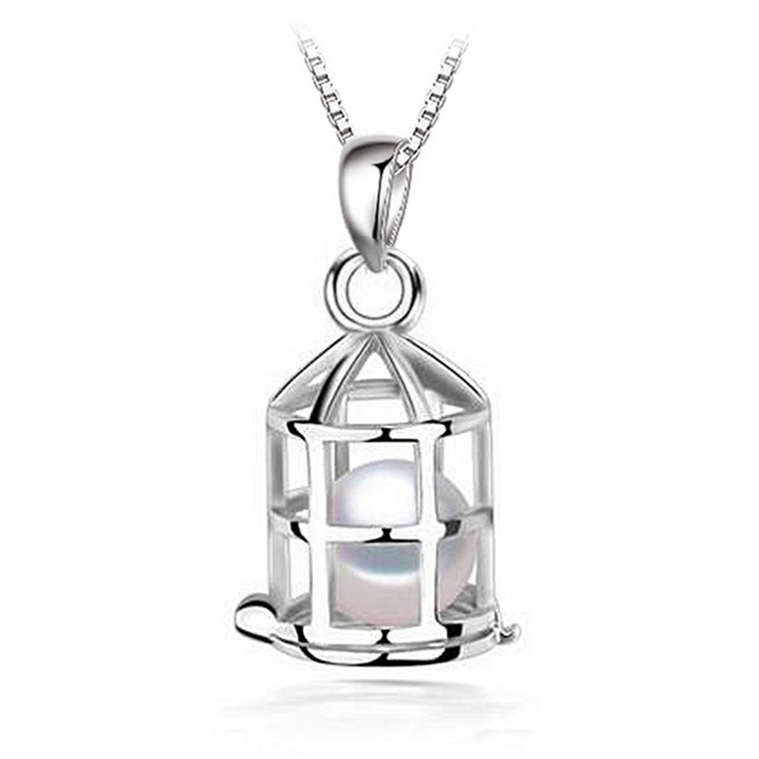 MMC cage Pearl Brand Fashion Silver Pendants Necklaces