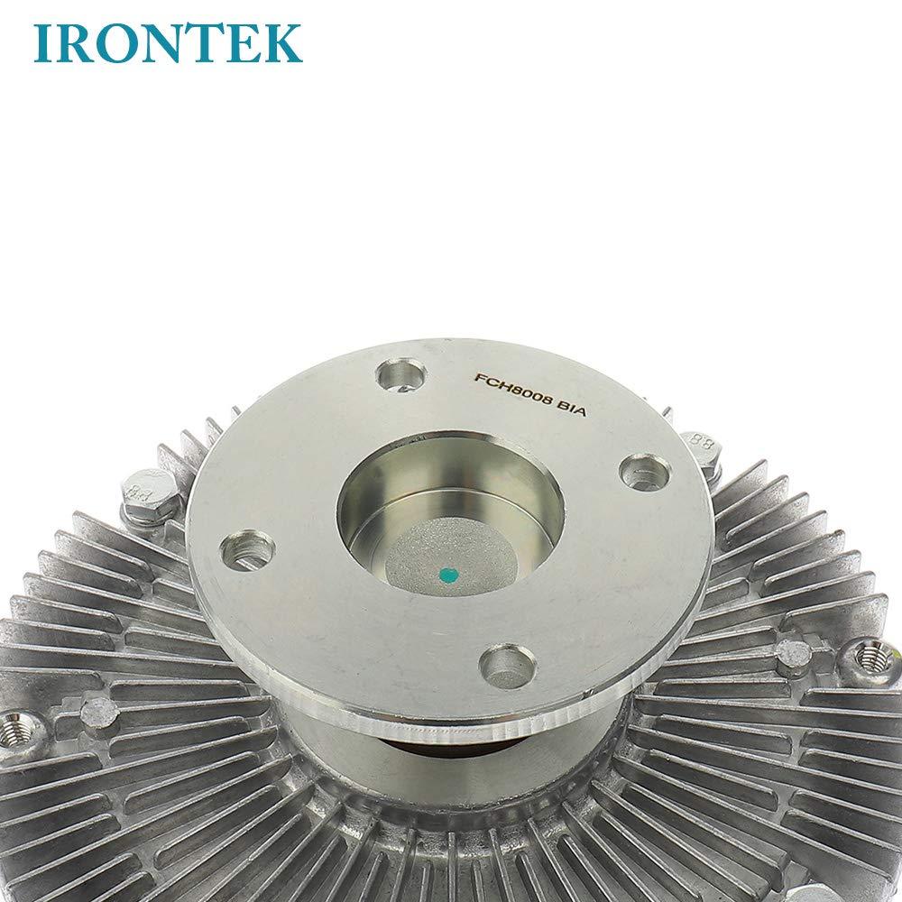 IRONTEK Engine Cooling Fan Clutch fits Nissan 300ZX V6,D21,Pathfinder V6,Nissan Pickup V6 3.0L,Xterra V6 3.3L Radiator Fan Clutch with Pulley Infiniti Q45 V8,QX4 V6