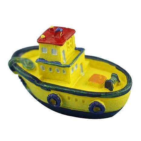 Outflower - Miniatura para colorear yate, barco, barco, hadas, jardín, adornos