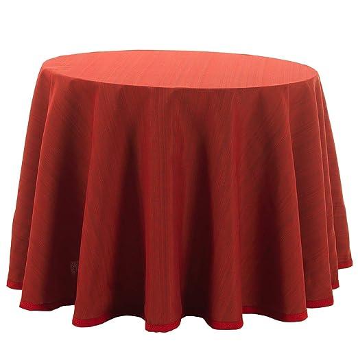 Falda para Mesa Camilla Redonda Modelo Darsena, Color Rojo, Medida ...