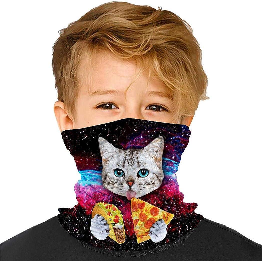 YUSMO Farm Animals Zoo Reusable Bandana Kids Dust Face Masks Neck Gaiter Balaclava