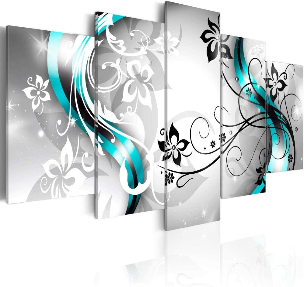 Canvas Art Design Floral Canvas Wall Art Large Artwork 5 Pieces Modern Abstract Paintings HD Flower Print Pictures for Living Room Home Bathroom Bedroom Kitchen Decoration