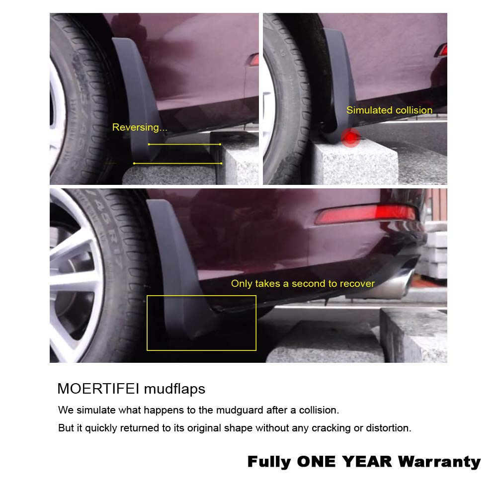MOERTIFEI Car Mudguard Fender Mud Flaps Splash Guard Kit fit for VW Passat Sedan 2016-2019 17 18