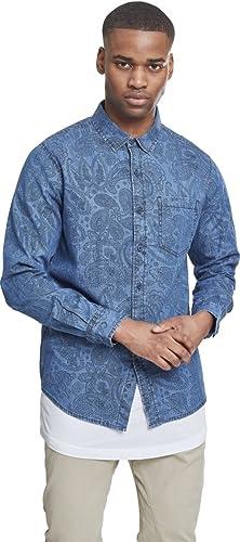 Urban Classics Printed Paisley Denim Shirt Camisa Vaquera para Hombre