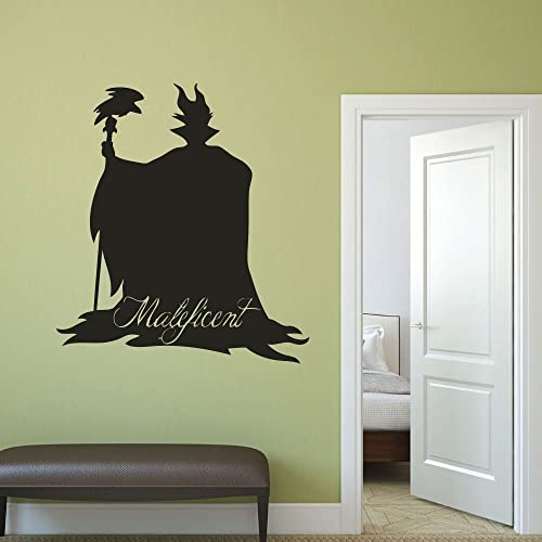 Amazon.com: Disney Villains Maleficent Vinyl Wall Decor, Halloween ...
