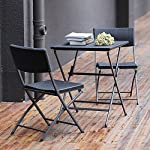 RFIVER-Outdoor-PE-Rattan-Furniture-Foldable-Patio-Square-Table-and-Chairs-Small-Garden-3-piece-Bistro-Set-All-Weather-Resistant-Resin-WickerBlack-ColorCH1004