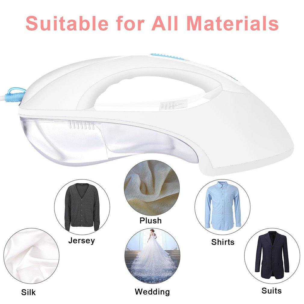 DEMU Portable Handheld Iron Garment Steamer 200ml Fast Heat-up Fabric Steamer for Home/&Travel Pink