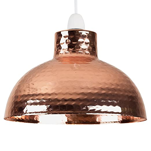 Retro style hammered copper metal effect dome ceiling pendant light retro style hammered copper metal effect dome ceiling pendant light shade aloadofball Image collections