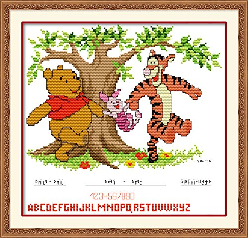 (Happy Forever Cross Stitch, cartoon animals, Winnie the pooh and tigger)