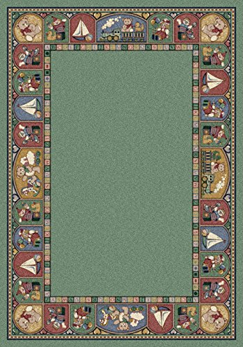Milliken Signature Collection Toy Parade Rectangle Area Rug, 10'9 x 13'2, Peridot - Peridot Signature Collection