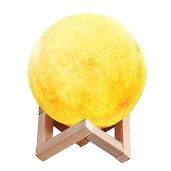 LunaUsb 3dTenmotion Lampe Rechargeable Veilleuse Lune Led Kcl1JTF