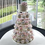 Efavormart 6 Tier HEAVY DUTY Acrylic Crystal Cupcake Dessert Stand For Wedding Birthday Party Dessert Cupcake Pedestal Display