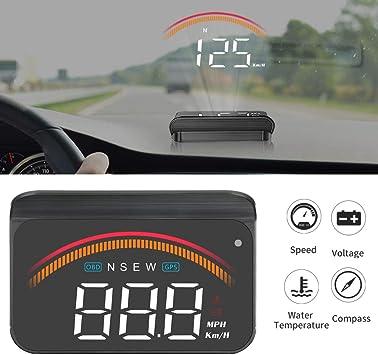 iKiKin Coche HUD con GPS OBD, Interfaces duales, Encabezar Pantalla Universal Digital Velocímetro KMH/mph Proyector de Parabrisas de automóviles para Todos los vehículos M11: Amazon.es: Coche y moto