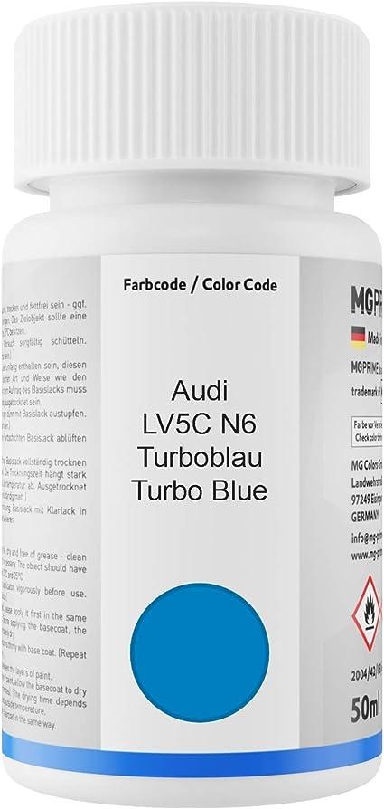 Mg Prime Autolack Lackstift Set Für Audi Lv5c N6 Turboblau Turbo Blue Basislack Klarlack Je 50ml Auto