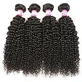 B&P Hair Malaysian Curly Hair 4 Bundles 16 18 20 22inches 7A Virgin