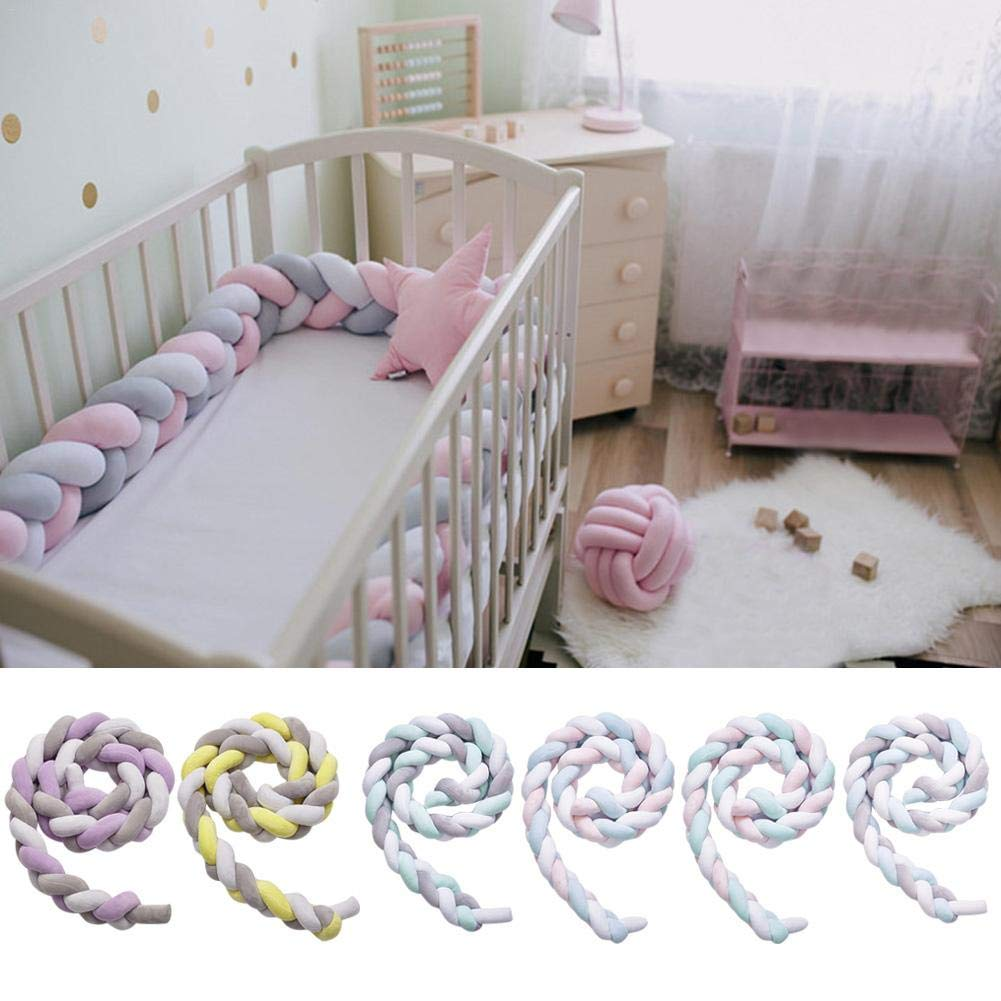 DREAMALVA Baby Crib Bumper,DIY Hand-Made Twist Bed Circumference Knot Stripe Knot Ball Pillow Crib Bumper Knotted Braided for Children's Room Decoration by DREAMALVA (Image #4)