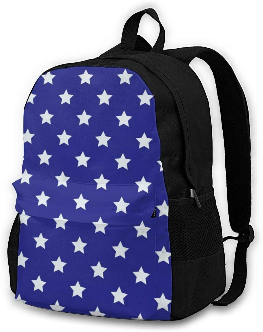 Backpack Blue Background Stars Dot Laptop Travel School College Backpacks Bag