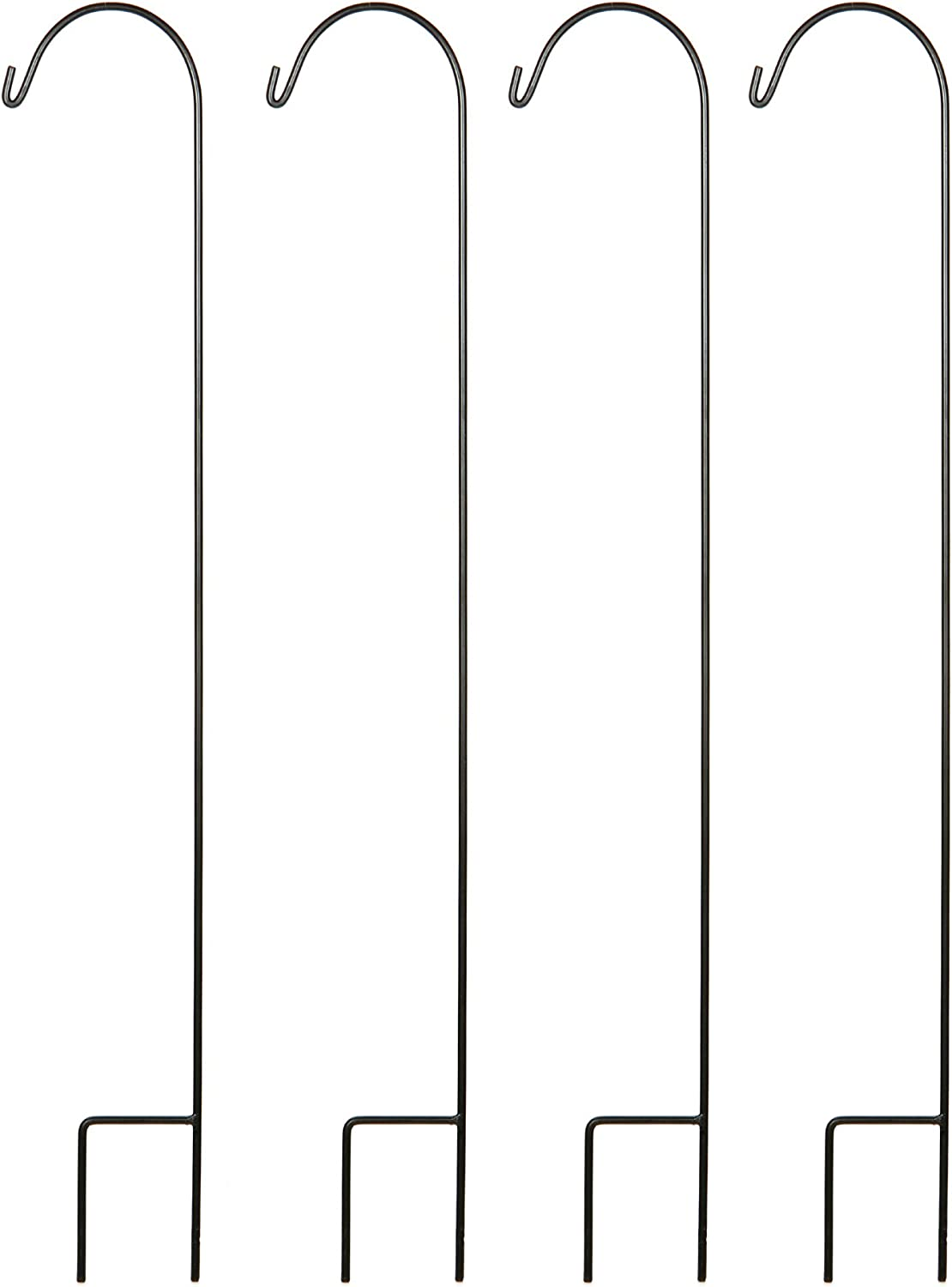 Hosley Set of 4 Shepherd Hooks 33 Inches High Ideal for Solar LED Lights Bird Feeders Mason Jars Plant Hangers Lanterns Garden Stakes Gift for Weddings House Warming Special Events O3