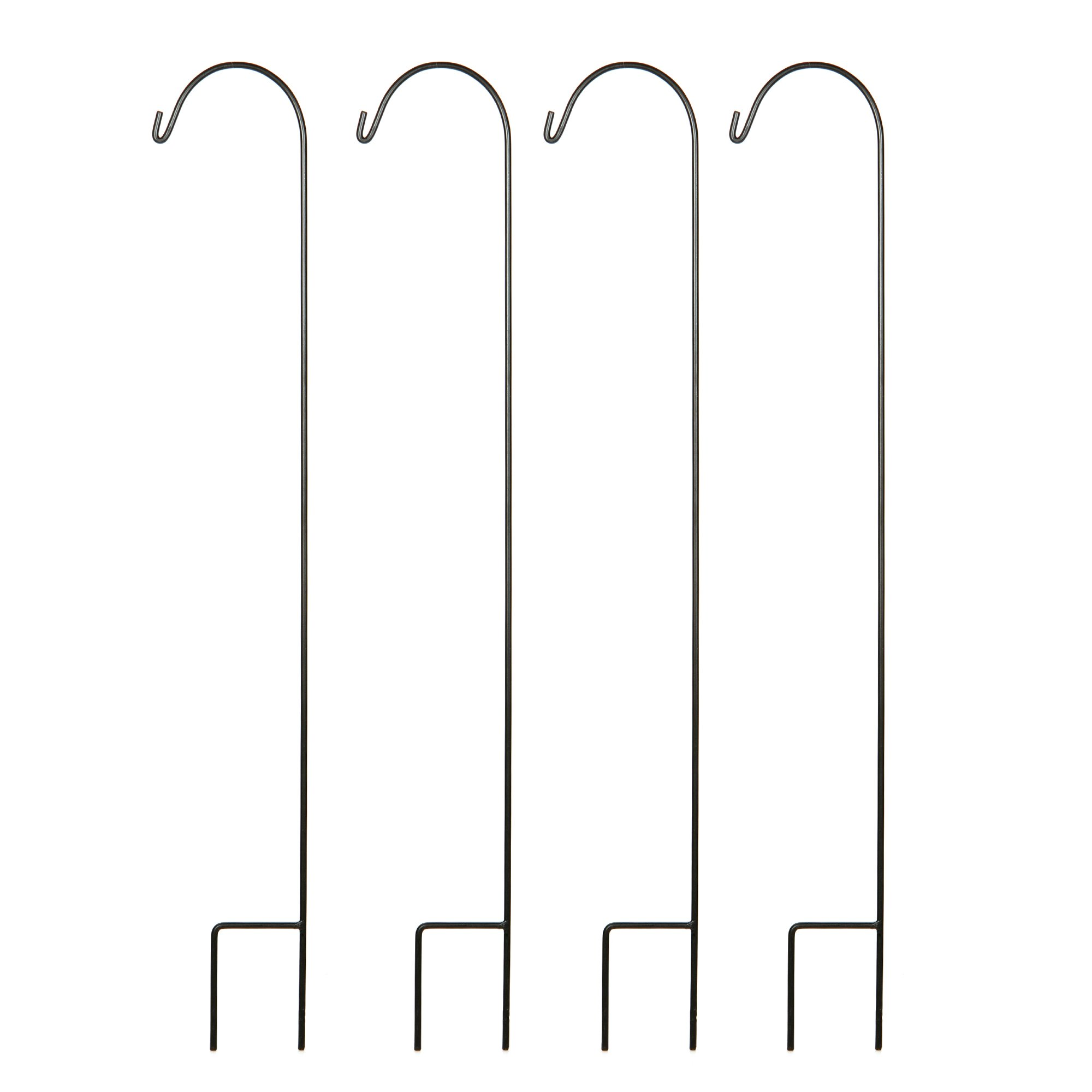 Hosley Set of 4 Shepherd Hooks- 33'' High. Ideal for Solar LED Lights, Bird Feeders, Mason Jars, Plant Hangers, Lanterns, Garden Stakes. Gift for Weddings, House Warming, Special Events O3
