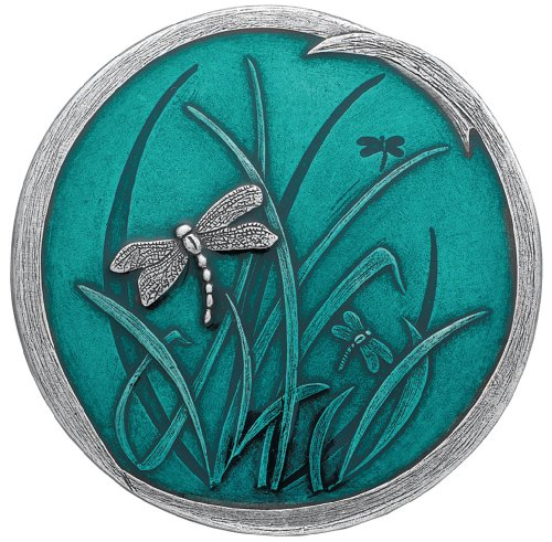 Danforth - Dragonfly Purse Mirror (Teal) - 2 7/8 Inch Diameter - Gift Boxed - Handcrafted - USA