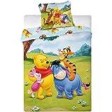 TFBBK Children's Bed Linen, with Disney Winnie The Pooh Motif, 2-Piece Set, 100 x 135 cm and 40 x 60 cm