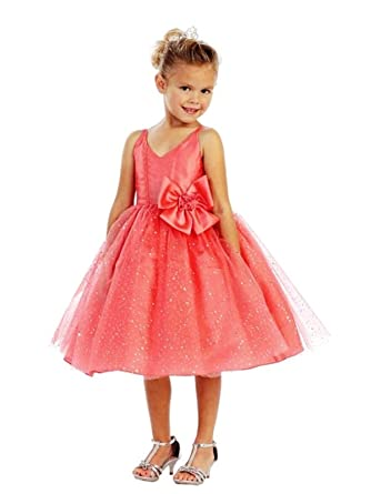 Bimaro Bimaro Kleid Elisa Mädchen Koralle Rosa Festkleid