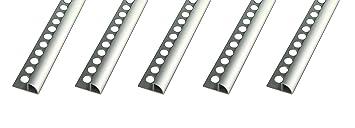 Coin Exterieur 10mm Profile Pour Carrelage Quart De Rond Aluminium