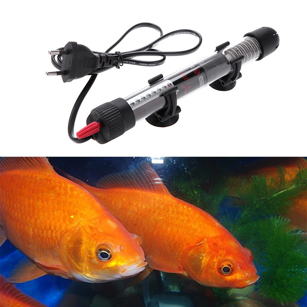 Submersible Heating for Aquarium Heating Bar Heater Stainless Steel Fish Tank Automatic Temperature Explosion Proof for Fish Tank feiledi Trade