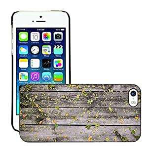 Hot Style Cell Phone PC Hard Case Cover // M00151247 Leaves Wooden Boards Wood Wall // Apple iPhone 5 5S 5G