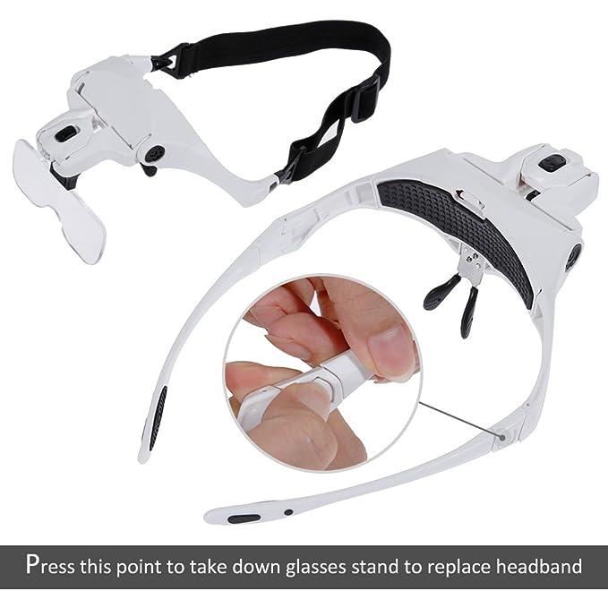 anpro gafas lupa para los la costura, trabajos de precisión, lectura, du tuercas: Amazon.es: Electrónica