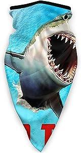 Rennifer Rohnson Windproof Sports Multifunctional Headwear Seamless - Face Bandanas Neck Gaiter Face Cover Scarf Balaclava Dustproof Outdoor -for Women Men Boys Girls-Leaping Great White Shark