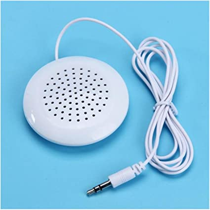 Portable 3.5mm Pillow Mini Speaker Audio For MP3 MP4 CD Player iPod Phone White