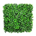 "ULAND Artificial Greenery Panels, Outdoor Privacy Fence, Plastic Plant Wall Decor ( Pack of 6pcs 20""x20""/pc)"