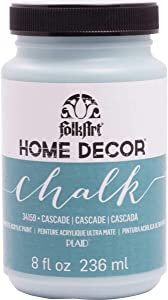 FolkArt Home Decor Chalk Furniture & Craft Paint in Assorted Colors, 8 ounce, Cascade,34159
