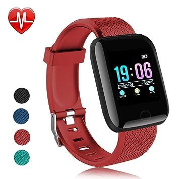 Reloj Inteligente, F-FISH Pulsera Actividad Inteligente Impermeable IP67 Pantalla Color Pulsera Podómetro con Pulsómetro, Monitor de Calorías, Sueño ...