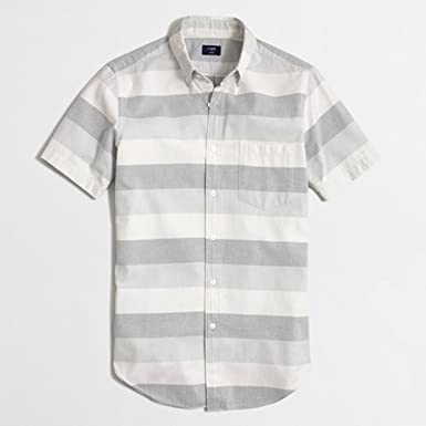 ac4768513cd2 Amazon   [ジェイクルー] J.CREW 正規品 メンズ 半袖シャツ SHORT-SLEEVE ...