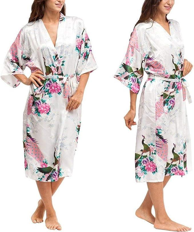 Vestiti Eleganti Kimono.Abito Da Donna Vestito Elegante Lungo Sleepwear Maxi Con Abito