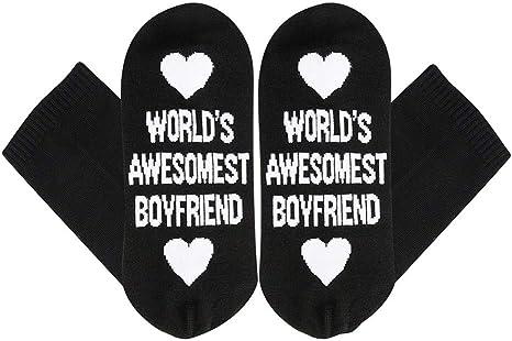 World's Awesomest Boyfriend Socks