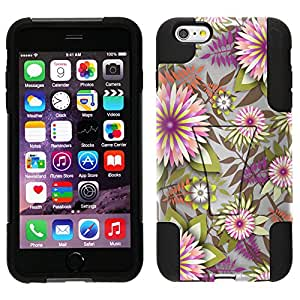 Trek Hybrid Stand Case for Apple iPhone 6 Plus - Exotic Pink and White Flowers on White
