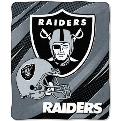 Raschel 50x60 Micro Blanket Throw (The Northwest Company Oakland Raiders NFL 50 x 60 Micro Raschel Plush Throw Blanket)