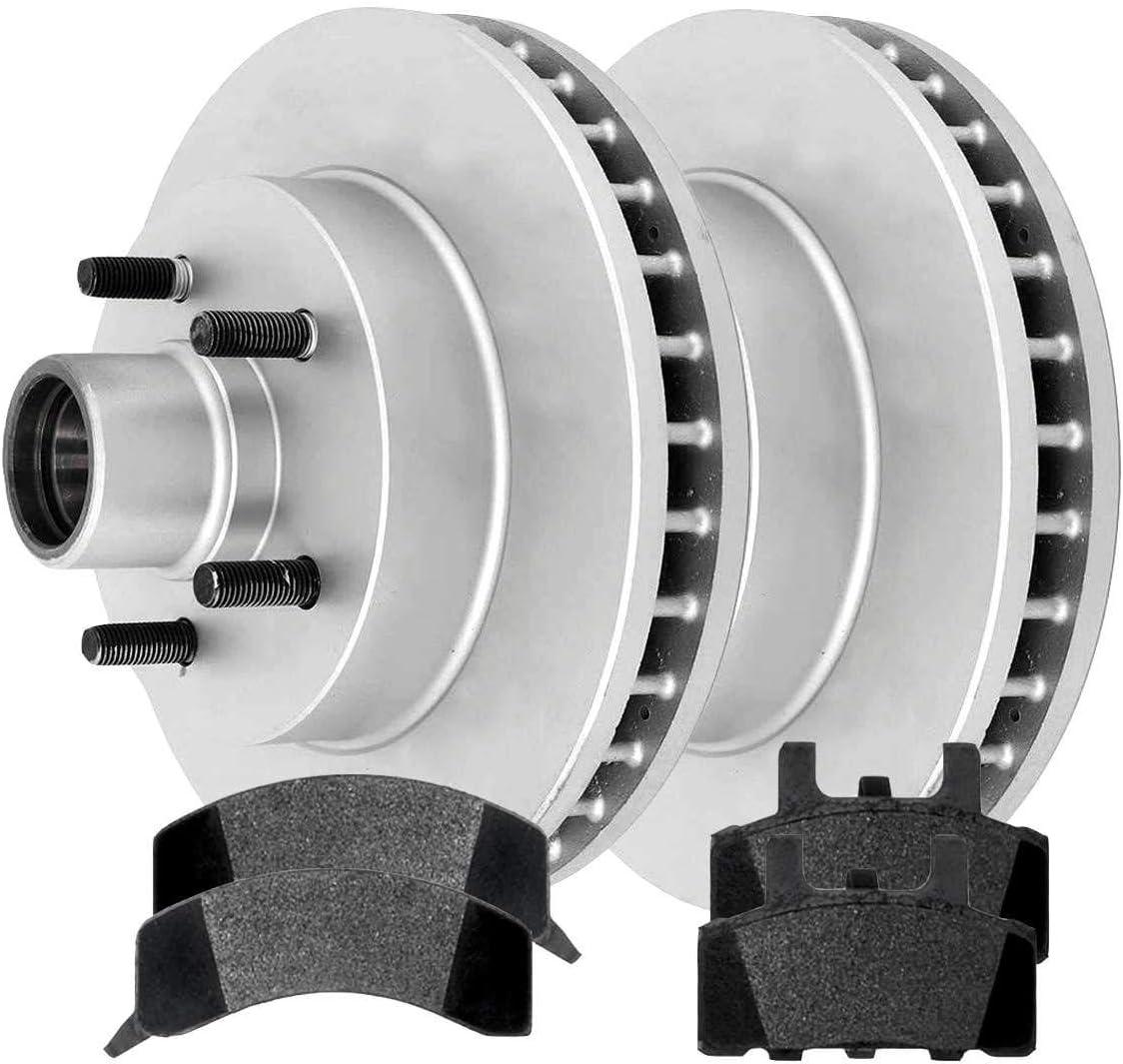 Auto Shack RSCD6597-6597-369-2-4 Front Ceramic Brake Pad and Rotor Bundle