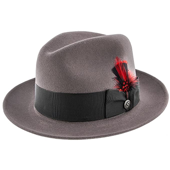 16e4ad95 Stetson Frederick Premium Wool Felt Fedora Hat, Caribou (Grey) - Size: 6  7/8: Amazon.ca: Clothing & Accessories