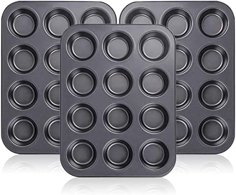 Baking Cupcake Tray Bakeware 12 Cup Carbon Steel Non Stick Muffin Pan Cake Mold